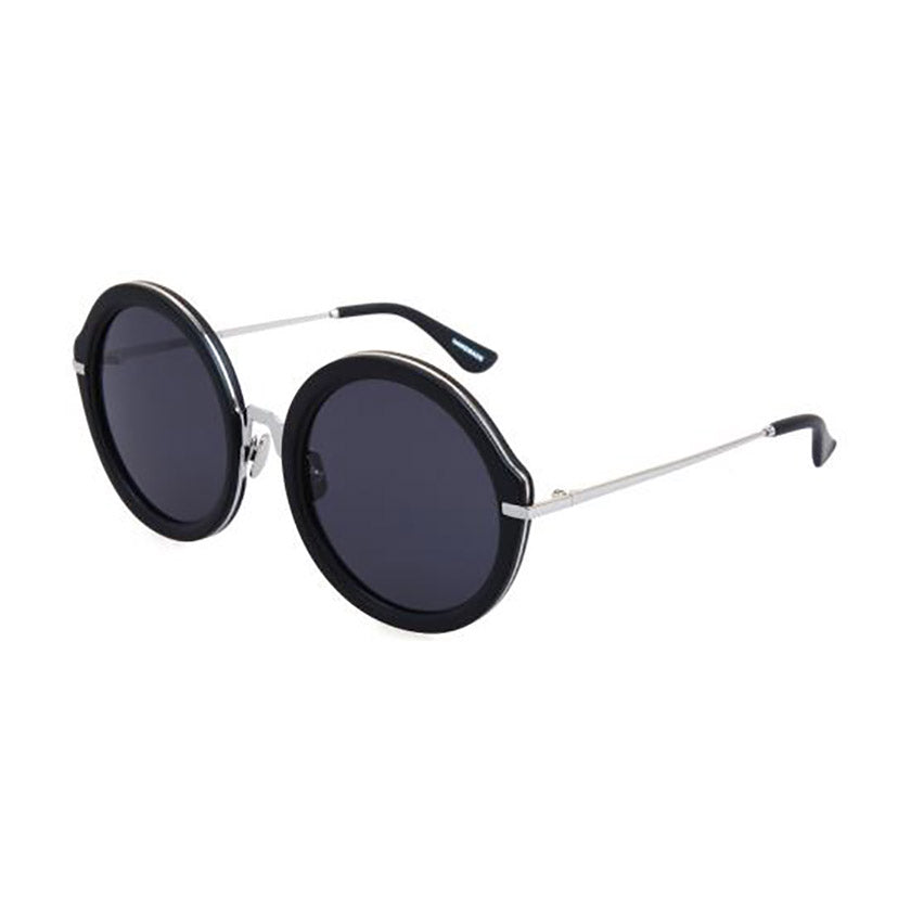 for art's sake sunglasses, for art's sake eyewear, xeyes sunglass shop, round sunglasses, oversized sunglasses, fashion, fashion sunglasses, women sunglasses, black sunglasses, metal sunglasses, silver sunglasses