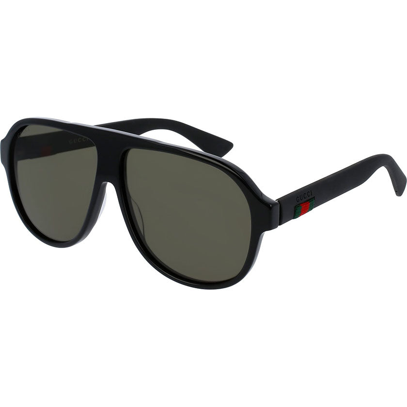gucci, gucci eyewear, gucci sunglasses, xeyes sunglass shop, women sunglasses, aviator sunglasses, oversized sunglasses, GG0009s, pilot gucci plastic sunglasses
