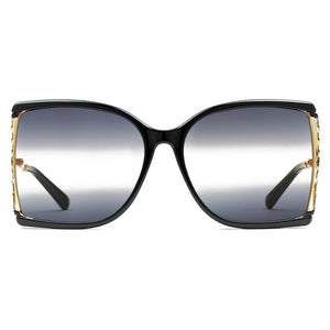 gucci, gucci eyewear, gucci sunglasses, xeyes sunglass shop, women sunglasses, fashion, fashion sunglasses, square sunglasses, black sunglasses, gold sunglasses, oversized sunglasses, gg0592s