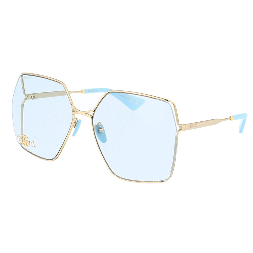 gucci, gucci eyewear, gucci sunglasses, xeyes sunglass shop, women sunglasses, fashion, fashion sunglasses, square sunglasses, gold sunglasses, gg0817s, metal sunglasses, oversized sunglasses