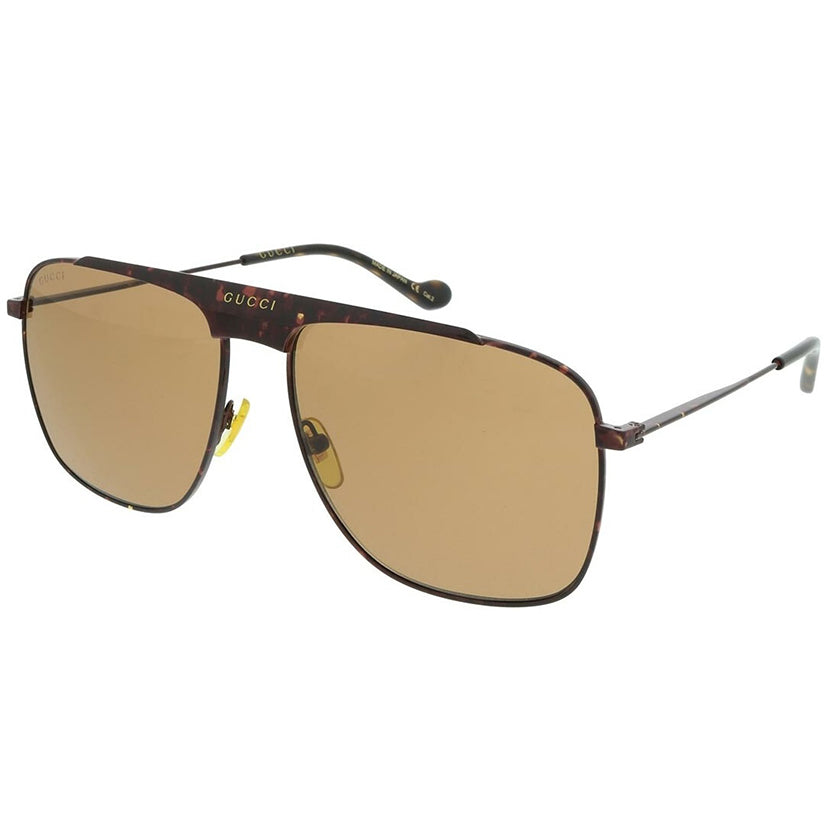 gucci, gucci eyewear, gucci sunglasses, xeyes sunglass shop, men sunglasses, women sunglasses, fashion, fashion sunglasses, aviator sunglasses, brown sunglasses, gg0909s, metal sunglasses, oversized sunglasses