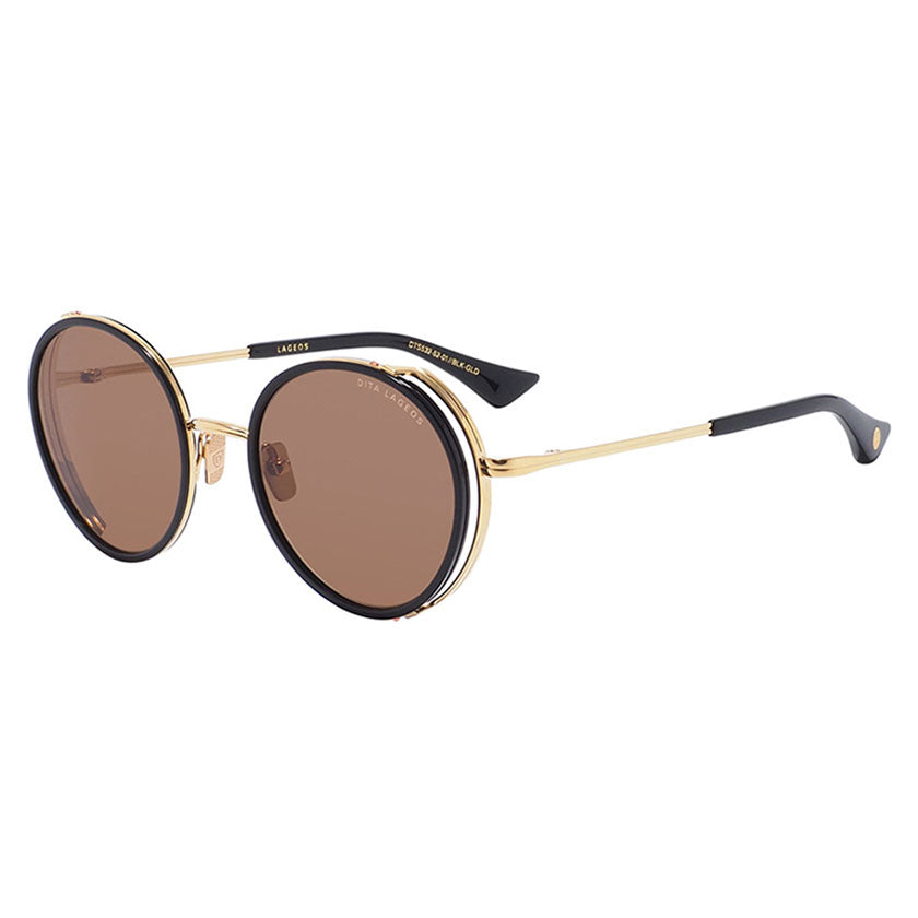 dita, dita eyewear, dita sunglasses, xeyes sunglass shop, titanium, titanium sunglasses, luxury, luxury sunglasses, fashion, fashion sunglasses, men sunglassses, women sunglasses, oval sunglasses, gold and black sunglasses, dita lageos, lageos dts532