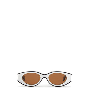 loewe, loewe sunglasses, loewe eyewear, xeyes sunglass shop, paula ibiza collection, square sunglasses, oval sunglasses, fashion,  fashion sunglasses, women sunglasses, white sunglasses