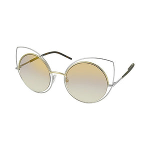 marc jacobs, xeyes sunglass shop, fashion sunglasses, fashion, marc jacobs sunglasses, marc jacobs eyewear, silver sunglasses, women sunglasses, cat-eye sunglasses