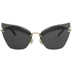 miu miu sunglasses, fashion sunglasses, xeyes sunglass shop, luxury sunglasses, women sunglasses, cat eye sunglasses, glitter on glasses, smu56u