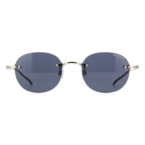 mont blanc, mont blanc eyewear, mont blanc sunglasses, xeyes sunglass shop, men sunglasses, round sunglasses, oval sunglasses, frameless sunglasses, metal sunglasses, mb0126s