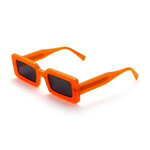 neon orange glasses, chimi sunglasses, xeyes sunglass shop