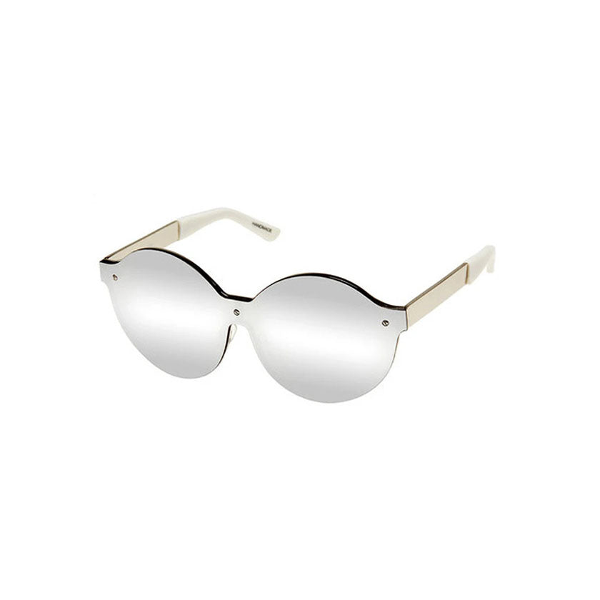 house of holland, house of holland eyewear, house of holland sunglasses, xeyes sunglass shop, metal sunglasses, fashion, fashion sunglasses, women sunglasses, round sunglasses, mask sunglasses, oversized sunglasses, silver sunglasses