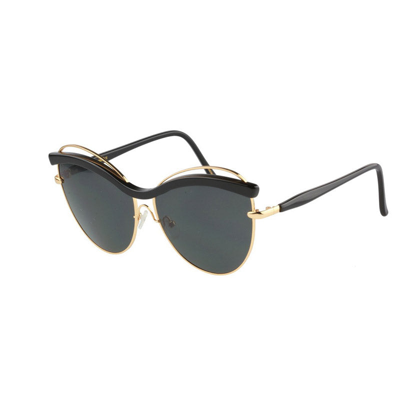 for art's sake sunglasses, for art's sake eyewear, xeyes sunglass shop, cat eye sunglasses, oversized sunglasses, fashion, fashion sunglasses, women sunglasses, black sunglasses, metal sunglasses, gold sunglasses