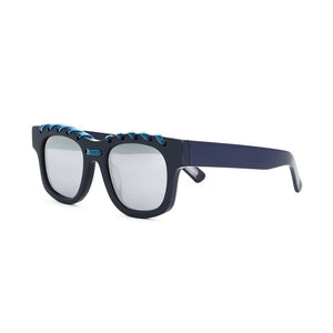 house of holland, house of holland eyewear, house of holland sunglasses, xeyes sunglass shop, acetate sunglasses, fashion, fashion sunglasses, men sunglasses. women sunglasses, rectangular sunglasses, square sunglasses, blue sunglasses
