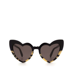 saint laurent eyewear, xeyes sunglass shop, women sunglasses, heart sunglasses, loulou sunglasses