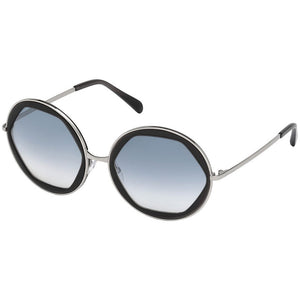 emilio pucci eyewear, emilio pucci, xeyes sunglass shop, big round metal sunglasses, women sunglasses, fashion sunglasses, round sunglasses, ep36 emilio pucci glasses