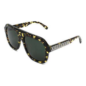 stella mccartney, stella mccartney eyewear, yellow tort glasses, stella mccartney chain xeyes sunglass shop, stella mccartney sunglasses, fashion, fashion sunglasses, flat top sunglasses, women sunglasses, luxury eyewear, mask sunglasses,