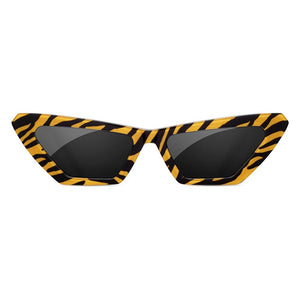 square cat eye glasses, chimi sunglasses, xeyes sunglass shop, tiger square sundae school chimi black and yellow glasses