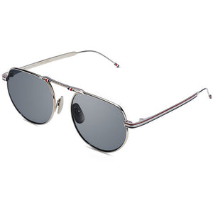thom browne, thom browne eyewear, thom browne sunglasses, xeyes sunglass shop, titanium, titanium sunglasses, luxury, luxury sunglasses, fashion, fashion sunglasses, men sunglassses, women sunglasses, aviator sunglasses, silver sunglasses