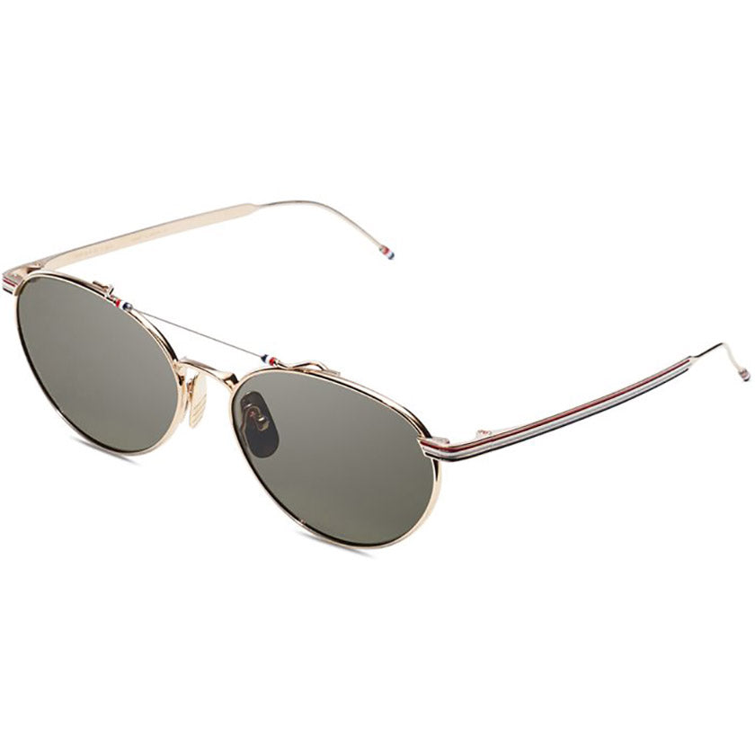 thom browne, thom browne eyewear, thom browne sunglasses, xeyes sunglass shop, titanium, titanium sunglasses, luxury, luxury sunglasses, fashion, fashion sunglasses, men sunglassses, women sunglasses, oval sunglasses, gold sunglasses