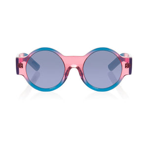 house of holland, house of holland eyewear, house of holland sunglasses, xeyes sunglass shop, acetate sunglasses, fashion, fashion sunglasses, women sunglasses, round sunglasses, blue sunglasses, pink sunglasses