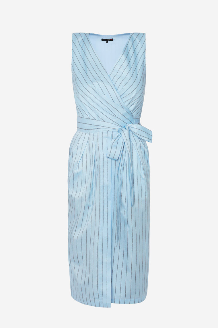 Cotton striped wrap dress - Dresses - TEREKHOV GIRL - SELFIE STORE BARCELONA S.C.P.