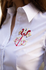 Embroidered cotton-blend shirt Keys - SELFIE STORE BARCELONA, SL