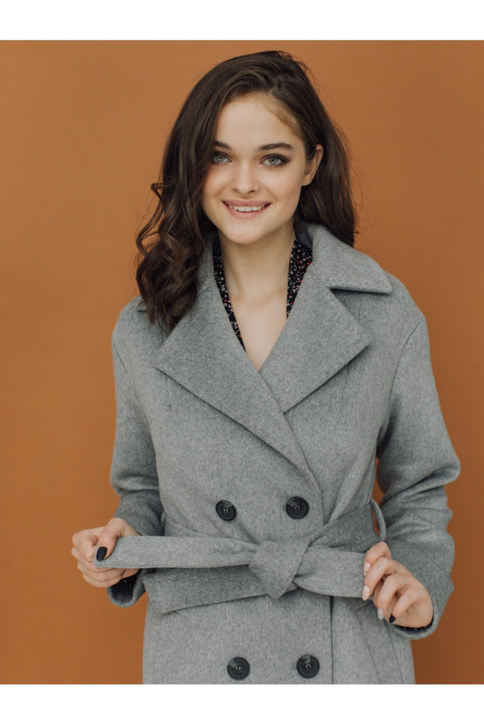 Merino wool long double-breasted coat - Outerwear - Aylinstories - SELFIE STORE BARCELONA S.C.P.