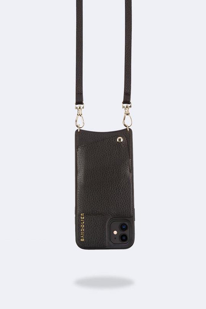 Emma Pebble leather crossbody bandolier Black/Gold - Bags - Bandolier - SELFIE STORE BARCELONA S.C.P.