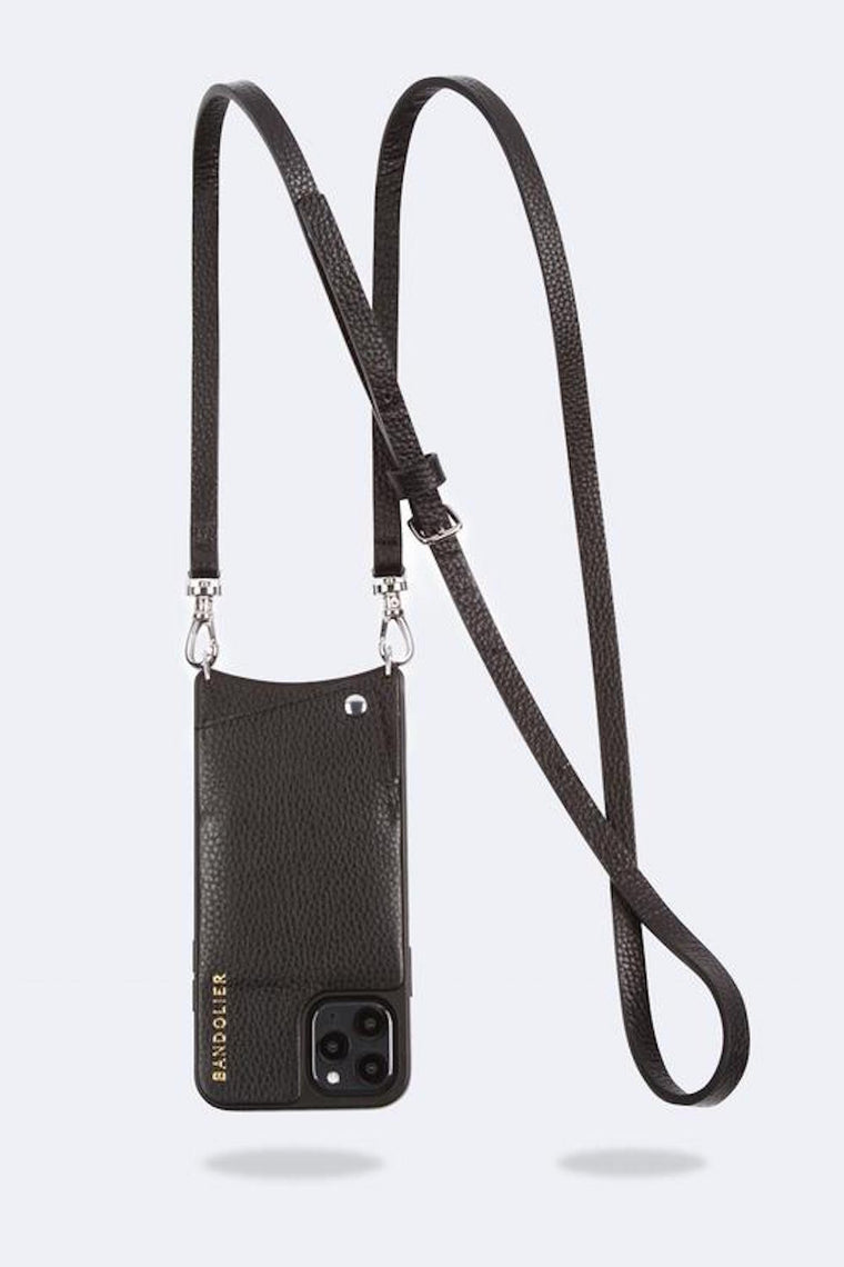 Emma Pebble leather crossbody bandolier Black/Silver - Bags - Bandolier - SELFIE STORE BARCELONA S.C.P.