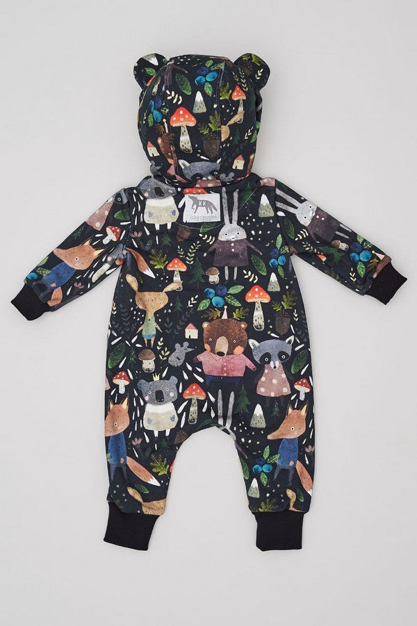 Kids Hooded overall Animals in the Forest - Kids - Karina Kino - SELFIE STORE BARCELONA S.C.P.