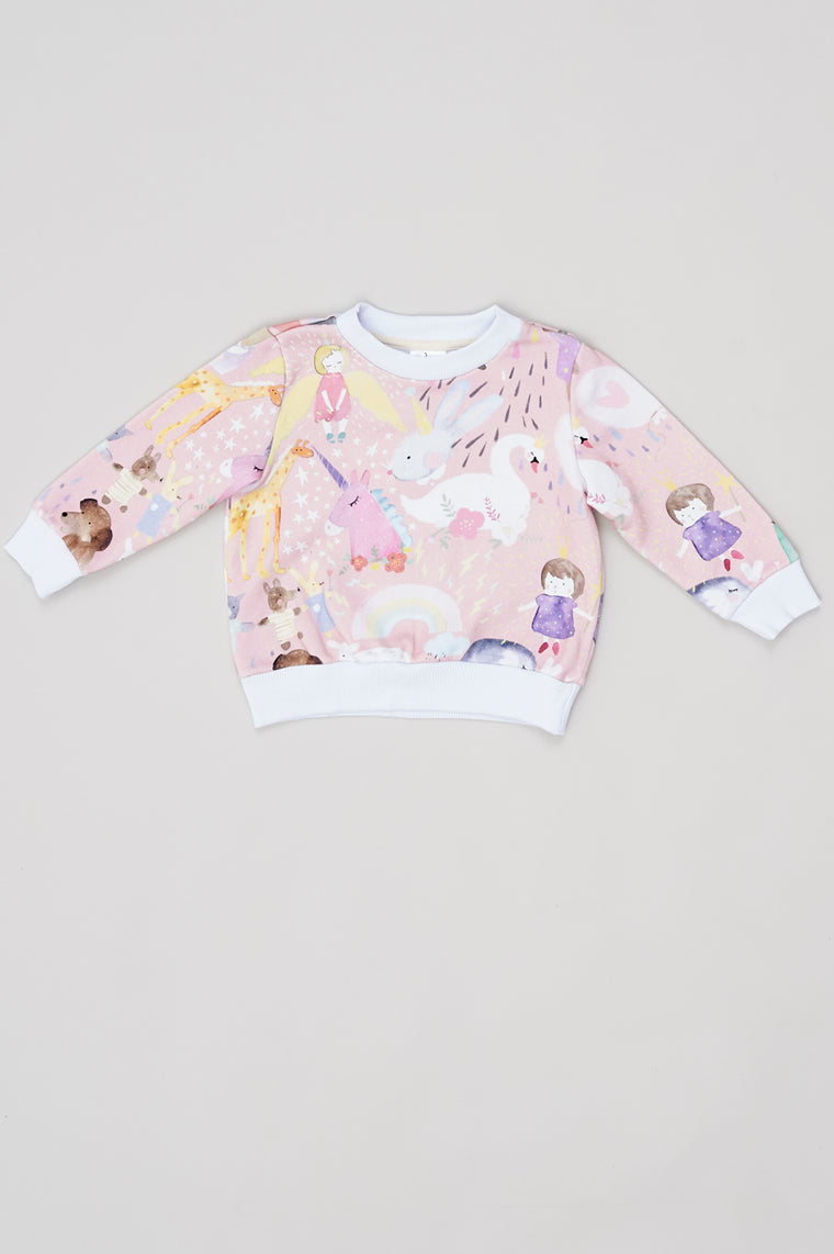 Kids Sweatshirt Pink Angels