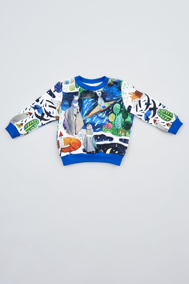 Kids sweatshirt Under the Star fall