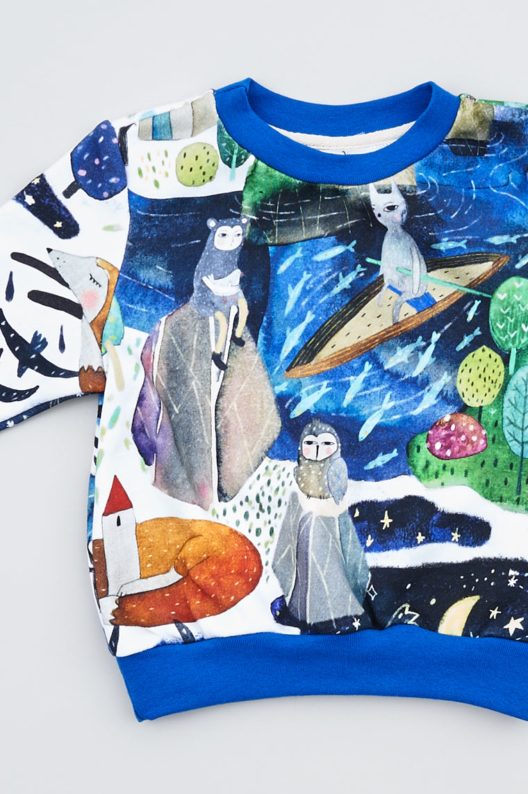 Kids sweatshirt Under the Star fall - Kids - Karina Kino - SELFIE STORE BARCELONA S.C.P.