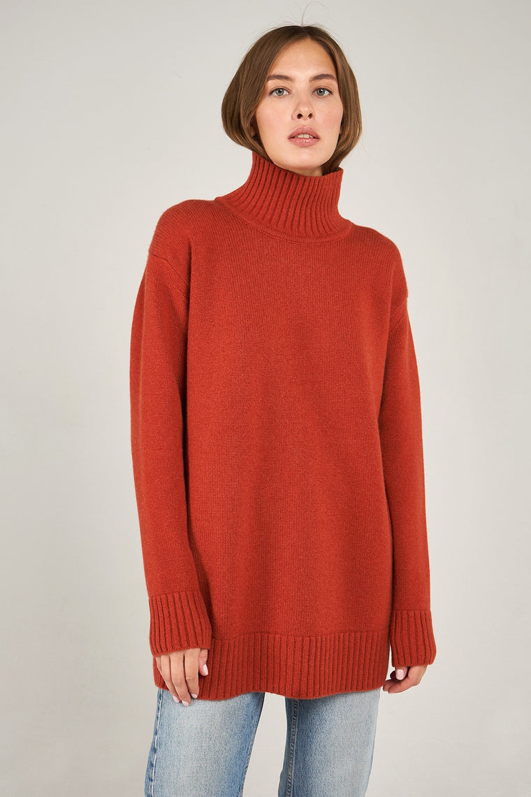High-Neck Cashmere Sweater