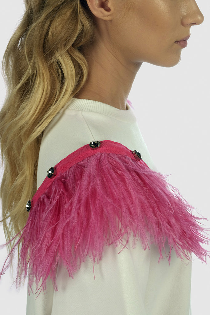 Feather shoulder pads - Tops - MADEMOISELLE MARTIN - SELFIE STORE BARCELONA S.C.P.
