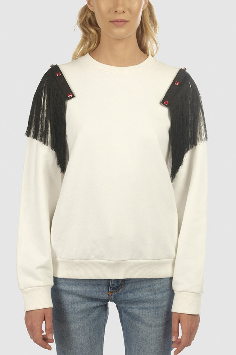 Short fringes shoulder pads