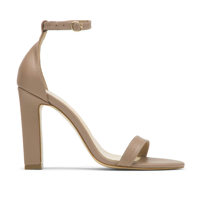 Nude leather sandals