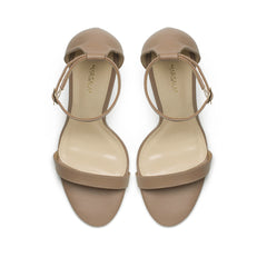 Nude leather sandals - Shoes - Marsala - SELFIE STORE BARCELONA S.C.P.