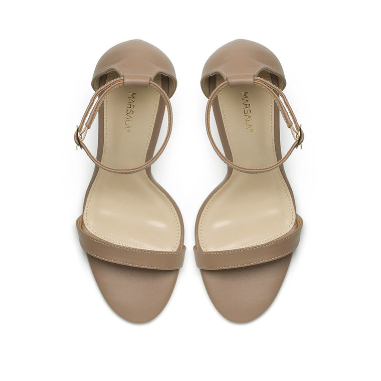 Nude leather sandals - SELFIE STORE BARCELONA, SL