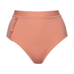 High-rise bikini bottoms Peach