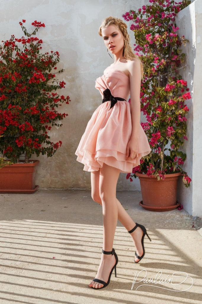 Off-the-shoulder organza mini dress - Dresses - PAULAIN - SELFIE STORE BARCELONA S.C.P.