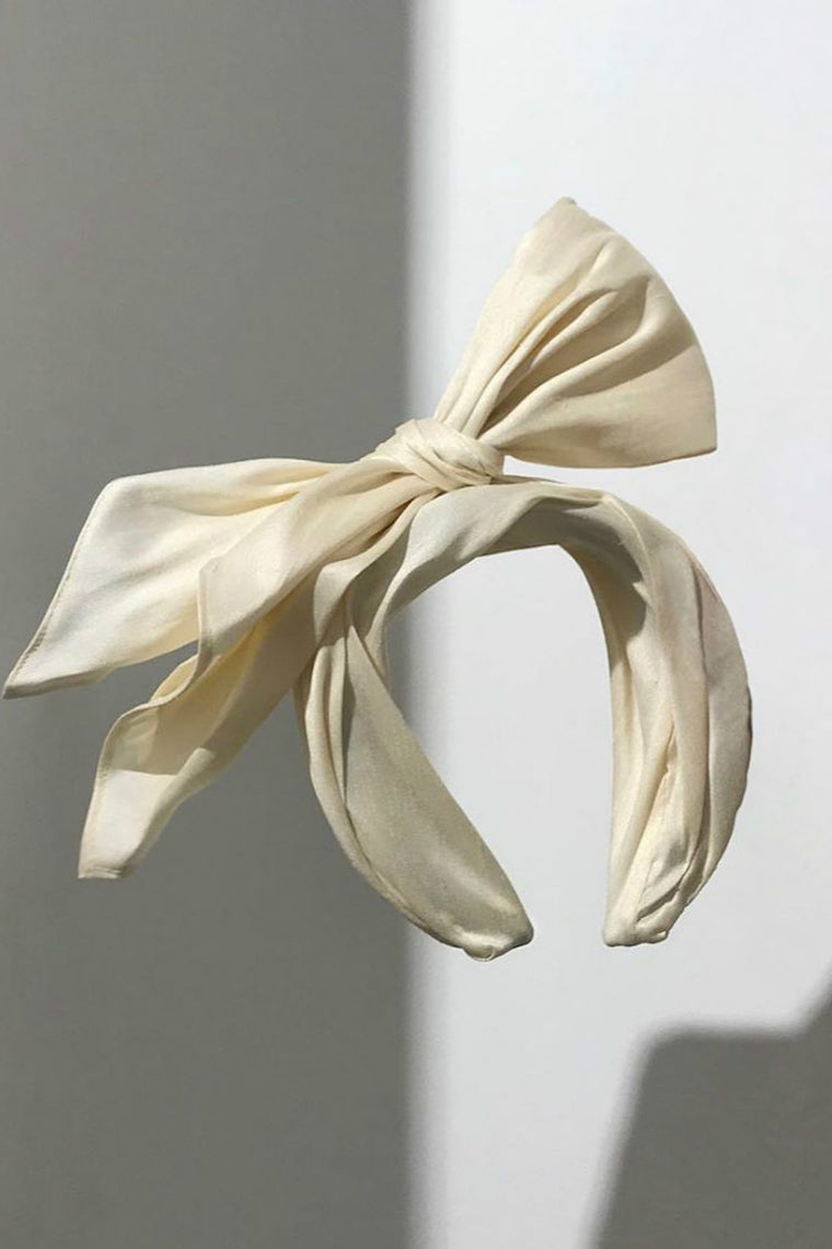Bow-embellished headband