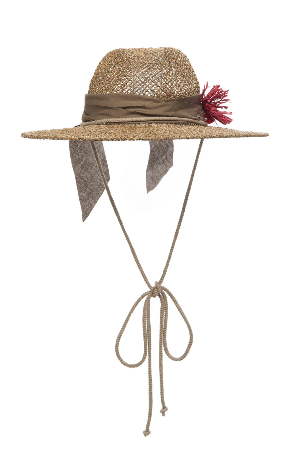 Straw Olive Fedora Hat with flower brooch and tie - Hats - Ruslan Baginskiy - SELFIE STORE BARCELONA S.C.P.
