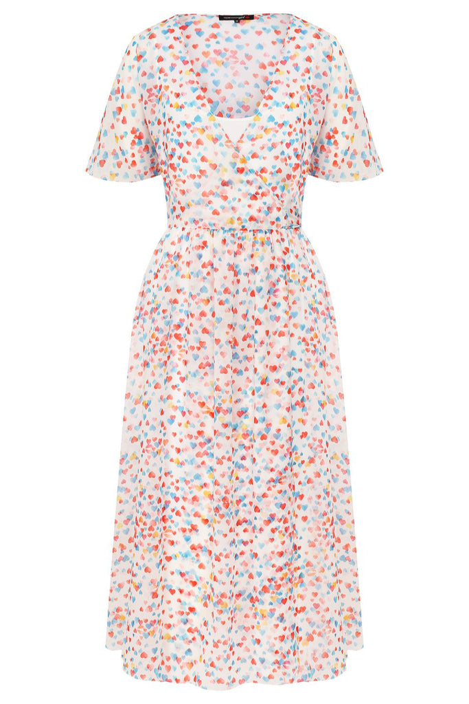 Printed wrap midi dress - Dresses - TEREKHOV GIRL - SELFIE STORE BARCELONA S.C.P.