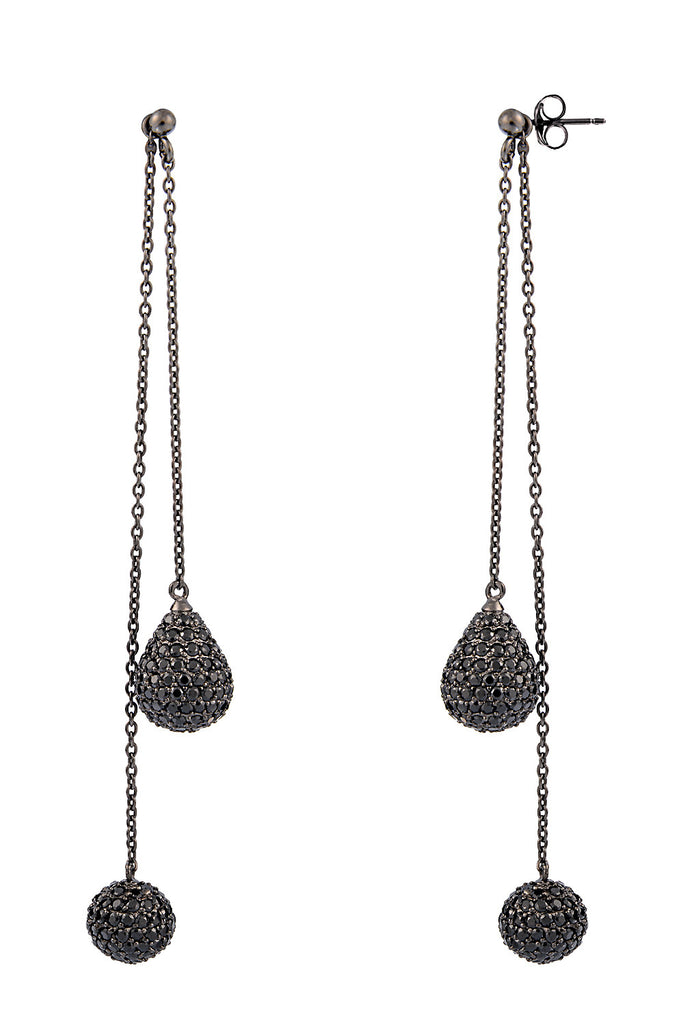 Sterling silver pavé teardrop earrings with cubic zirconia - Jewelry - Wanna Be - SELFIE STORE BARCELONA S.C.P.