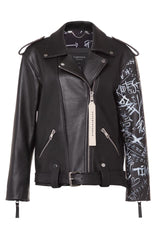 Printed leather biker jacket - Outerwear - Yulia Wave - SELFIE STORE BARCELONA S.C.P.