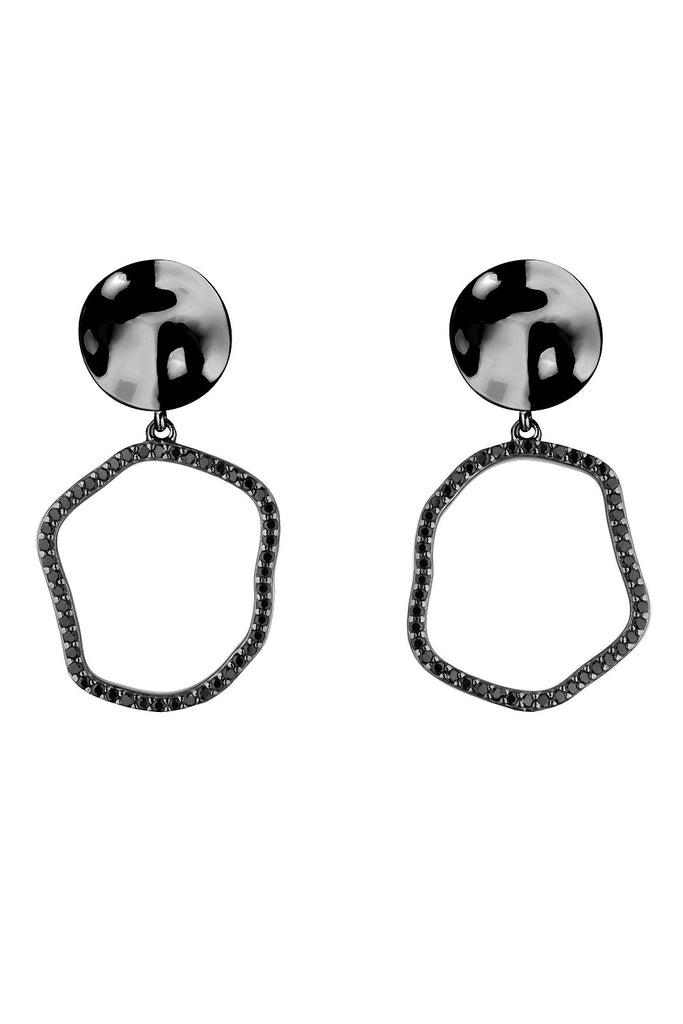 Sterling silver fluid drop earrings with cubic zirconia - Jewelry - Wanna Be - SELFIE STORE BARCELONA S.C.P.