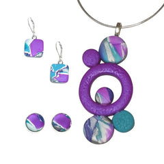 Purple Teal White Hope Collection