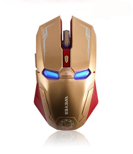 Iron Man Gaming Wireless Mouse with Silent Mute Button for PC and Mac - FREE SHIPPING