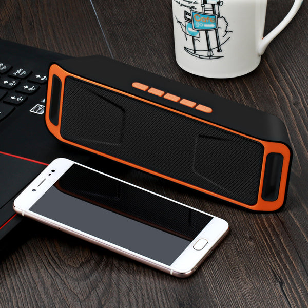 High-fidelity Portable Wireless Bluetooth Speaker with FM Radio USB Mic TF card Function