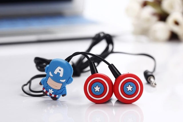 Captain America in-ear Earphone Headset - FREE SHIPPING