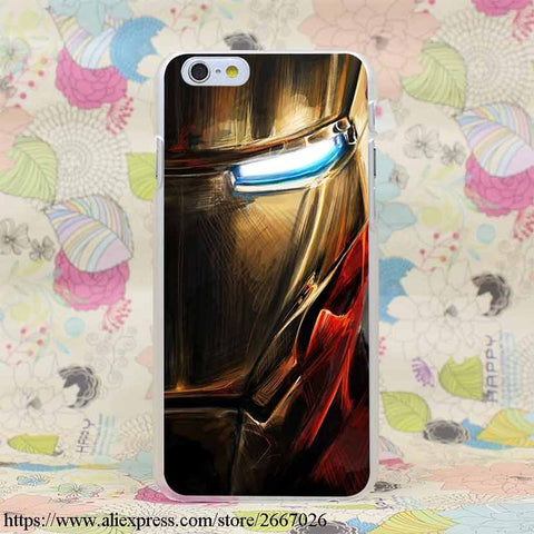 Iron Man Quality Transparent Cover Case for iPhone X 10 8 7 6 6S Plus 5 5S SE 5C 4 4S - FREE SHIPPING