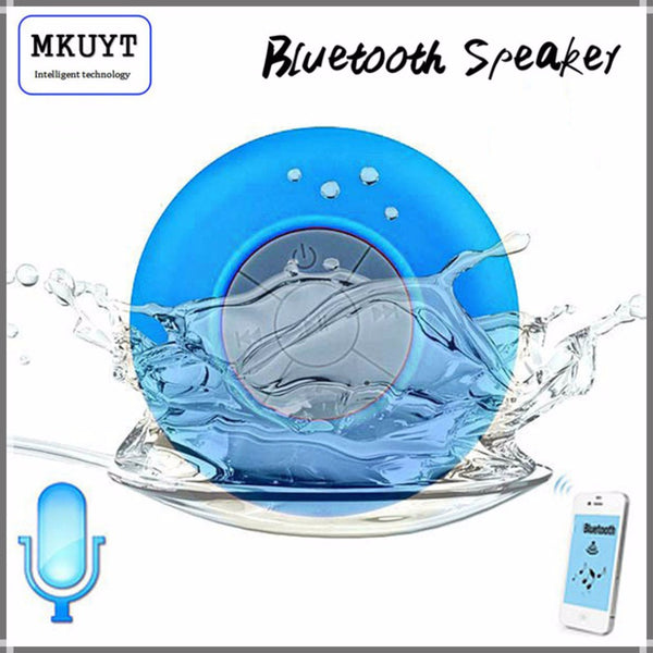 Waterproof Mini Portable Wireless Bluetooth Speaker Car Handsfree Receive Call Music Suction Mic